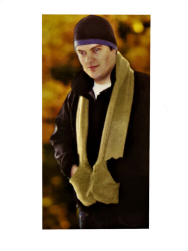 SCARF WITH POCKETS THERMAL FLEECE DOUBLE THICKNESS EXTRA SOFT COSY COMFORT
