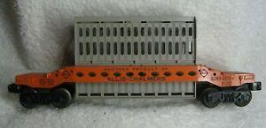 Lionel-ACMX-6519-Allis-Chalmers-FLAT-CAR-O27-Ga-Unrestored-POSTWAR-Original