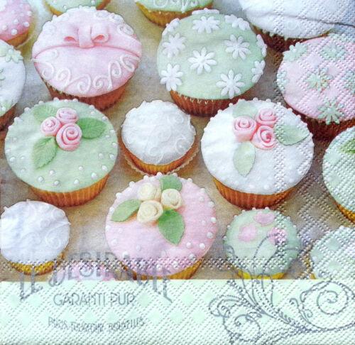 fiesta artesanía Para Decoupage 4 X Solo Vintage Cuadro las servilletas de papel Muffins