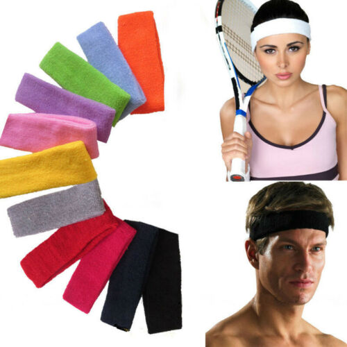 Fashion Women Men Sport Sweat Headband Yoga Gym Stretch Basketball Hair Band Bu