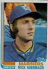 1982 Topps Rick Auerbach #72 Baseball Card