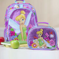 Disney Store Exc.tinkerbell Tinker Bell Fairy Backpack Book Bag Lunch Tote