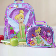 NEW Disney Store EXC.TINKERBELL TINKER BELL FAIRY Backpack Book Bag Lunch Tote