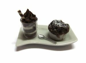 Souffle Bakery and Coffee on Tray Dollhouse Miniatures Food Supply Deco-10