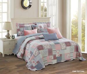 Beautiful Floral Vintage Patchwork (FINE DECORE) Bedspreads