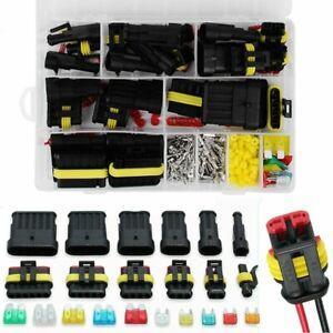 240-Pcs-12V-Waterproof-Car-Electrical-Wire-Connectors-Terminals-Assortment-Kit
