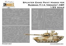 Splinter Camo Paint Masks for Russian T-14 Armata MBT 1/35