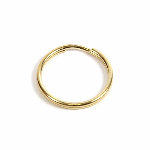 500 SPLIT RINGS 25mm GOLD COLOURED KEYRINGS RS25G