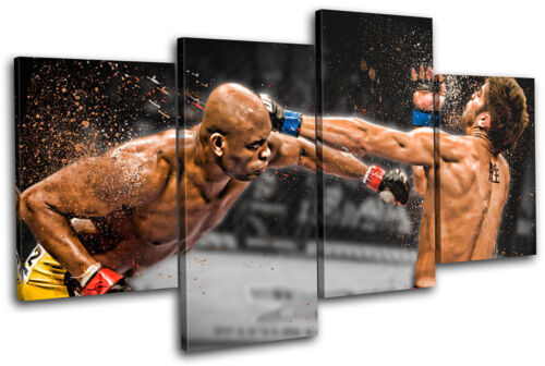 MMA Anderson Silva Cote Sports MULTI CANVAS WALL ART Picture Print VA