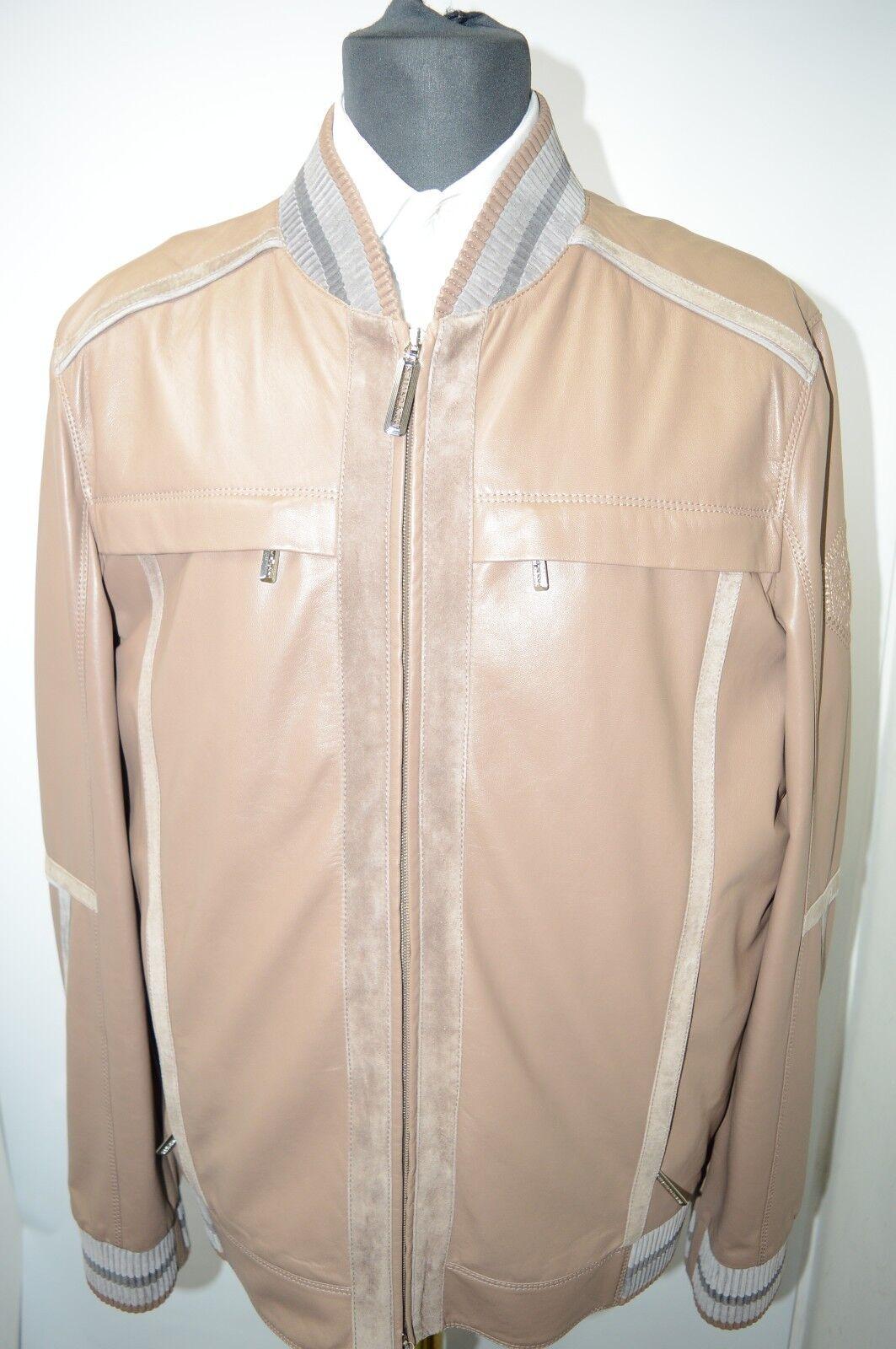NEW 10450,00  STEFANO RICCI Outwear Coat Leder Us M Eu 50 G123