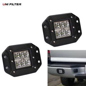 2pc18W SPOT LED Work Light bumper push mount Pod Ford Jeep 4X4 Off-Road ATV Jeep