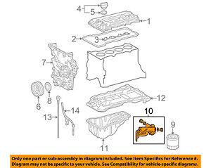 details about toyota oem 05 18 tacoma 2 7l l4 engine oil filter housing 1560975070 toyota 2tr engine toyota 2 7l engine diagram #6