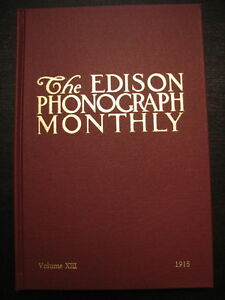 Scarce Edison Phonograph Monthly Collector Book #13 NEW