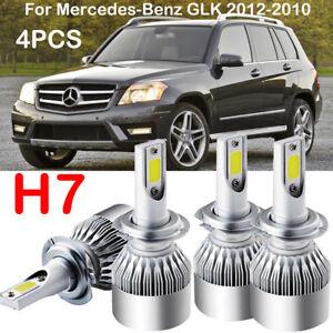 New 4pcs H7cree Led Headlight Kit Bulb Fit Mercedes Benz Glk 2012