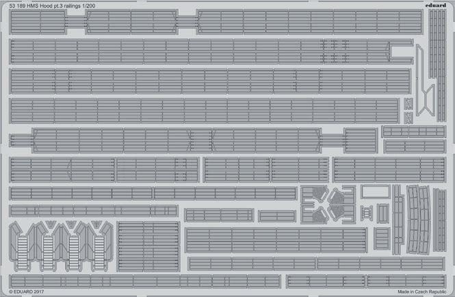 Eduard 1 200 HMS Hood Part 3 - Railings