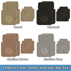 Monogrammed Floor Mats >> Details About Waterhog Universal Fit Personalized Monogram Floor Mats Color Letter Pieces