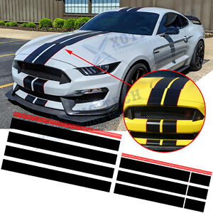 1x Car Strip Decal Vinyl Self Adhesive Graphics Stickers Hood Dual For Mustang