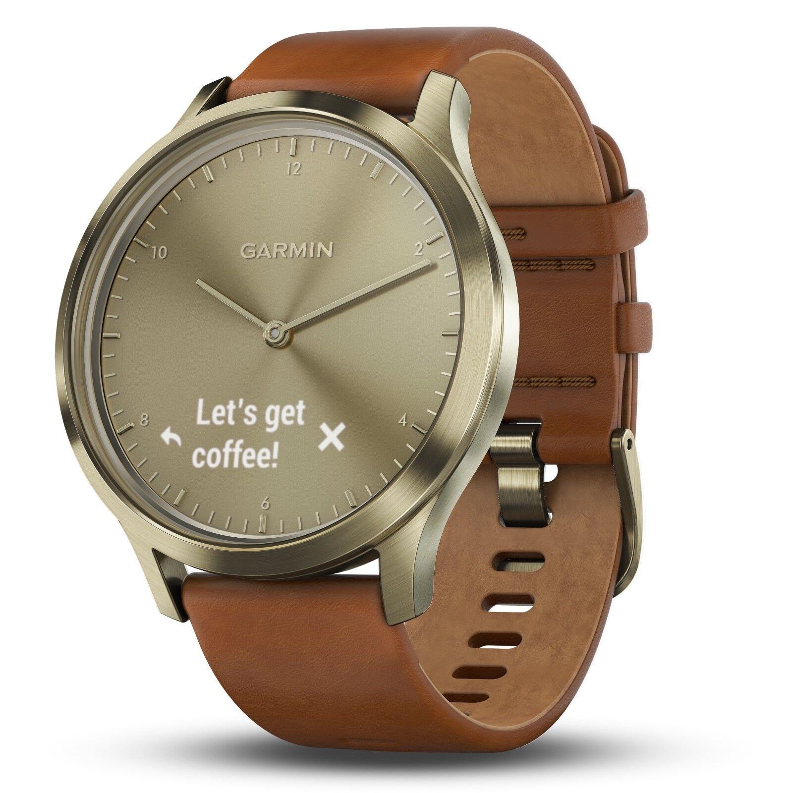 Garmin Vivomove HR Gold 122-189 Hybrid Smartwatch Small, Medium 122-189 Gold mm 010-01850-15 773382