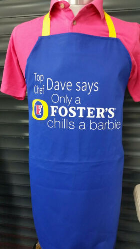 100/% Cotton PERSONALISED  BBQ//Kitchen Apron FOSTER/'S Chills
