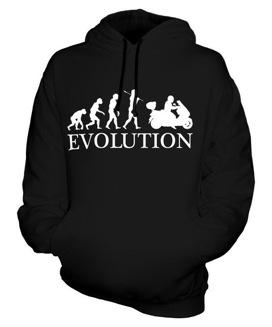 SCOOTER EVOLUTION OF MAN UNISEX HOODIE  Herren Damenschuhe LADIES GIFT CLOTHING