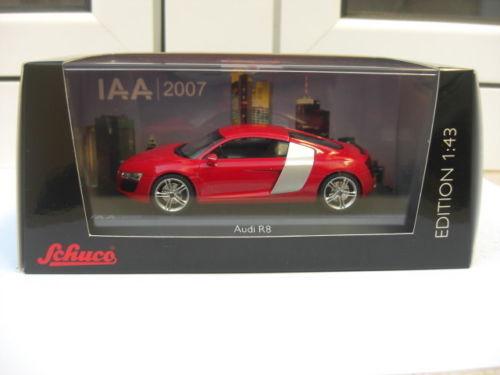 Audi R8 coupe IAA 2007 show Coche rojo Schuco MIB 1 43 A5 A8 100 200 GREAT RARE