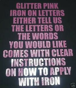 pink iron on letters 3 quot vinyl iron on letters glitter pink transfer t shirt 24005
