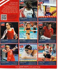 2012 Olympic Trading Cards Kellogg's Cereal Panel w/ Kerri Walsh, Summer
