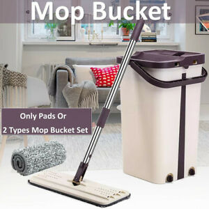 Self-Cleaning-Drying-Wringing-Mop-Bucket-Flat-Floor-Free-Hand-Wash-Mop