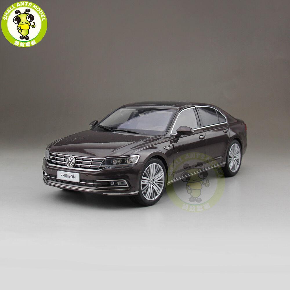 1 18 VW PHIDEON 2016 Volkswagen Diecast Car Model toys kids boy girl gift Brown
