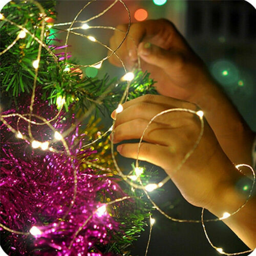 20//30//100 LED Battery Micro Rice Wire Copper Fairy String Light Xmas Party Decor
