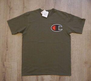 2f77150f7396 Champion Life C Big Logo Heritage Hiker Green Olive Tee T Shirt   eBay