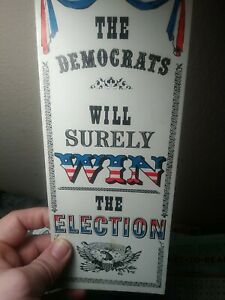 Vintage POLITICAL American Greetings Hi Brows THE DEMOCRATS  Greeting Card