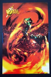 "🌈 The Legend of Zelda Ocarina of Time Org. 1998 Nintendo Game Mag Poster 16x10"""