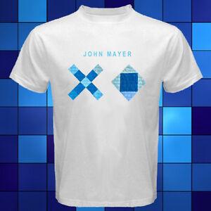 69695880 John Mayer XO Music Logo Famous Singer White T-Shirt Size S M L XL ...