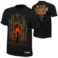"""WWE UNDERTAKER """"NEVER SUMMON THE DEAD"""" OFFICIAL T-SHIRT NEW (ALL SIZES)"""
