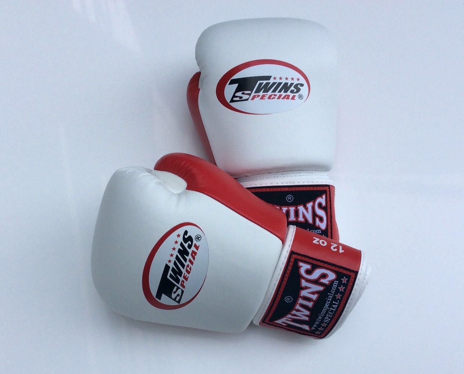 Twins Special Bgvl-3T Weiß/ROT 10oz Muay Thai/ Boxing Gloves