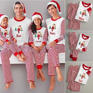 Christmas-Family-Matching-Pajamas-Elf-Women-Baby-Kids-Xmas-Sleepwear-Nightwear