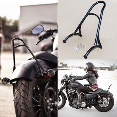 Burly Black Short Sissy Bar Backrest For Harley Sportster Iron 1200 883 XL 04-16