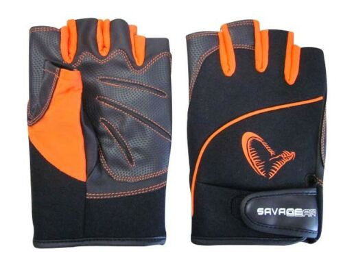 Savage Gear ProTec Glove L Neopren Lycra Handschuhe Pro Tec Fingerlos NEW