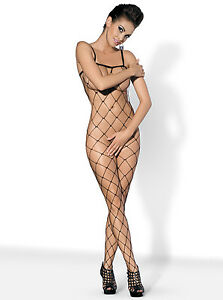 Fishnet-Bodystocking-Mesh-Body-Overalls-Chunky-Suit-Lingerie-Sexy-S-L