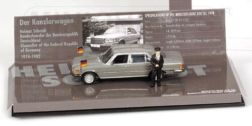 Minichamps Mercedes Benz 350 SEL  Helmut Schmi 1 43 436039200 1 43