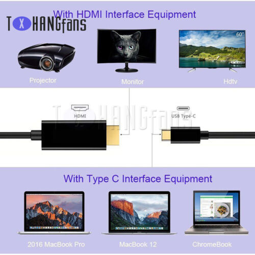 USB-C Type USB 3.1 to HDMI 4k 2k HDTV Cable for Galaxy S8 S8 Plus MacbookATF