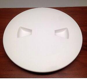 "MARINE BOAT KAYAK BLACK PLASTIC DECK PLATE 4/""D WATERPROOF INSPECTION BAYONET"