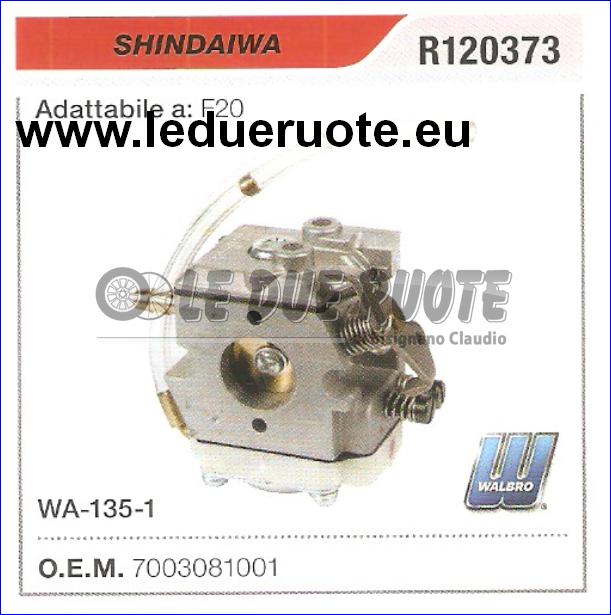 7003081001 Carburettor Diaphragm Wa 135 1 Shindaiwa F20 Walbro