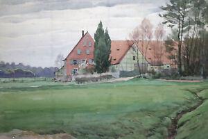 Gustav-Mueller-Aquarell-Koppenhof-Zwinglhof-11-April-1948