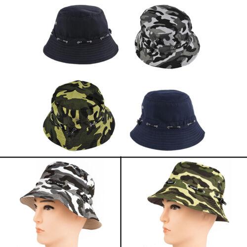 Men Bucket Hat Boonie Basic Hunting Fishing Outdoor Summer Cap Unisex Canvas