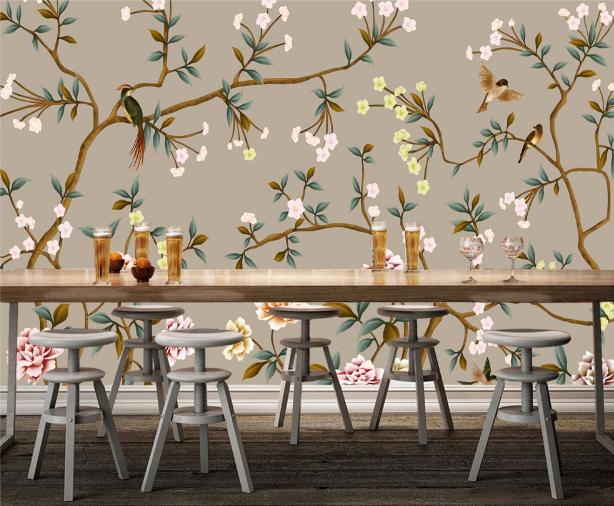 3D Flowers Birds Art 8 Wall Paper Murals Wall Print Wall Wallpaper Mural AU Kyra