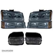 Smoke Headlight Amber Signal Fog Lights Fit For 03 07 Chevy Silveradoavalanche Fits More Than One Vehicle