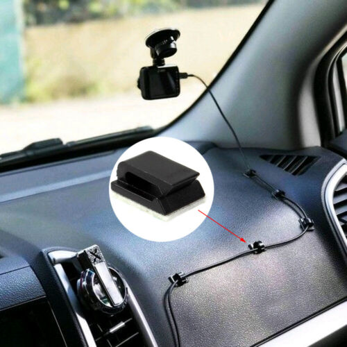 20 Pcs Cable Self Adhesive Clips Wire Holder Drop Tie Cord Pack Car Organizer