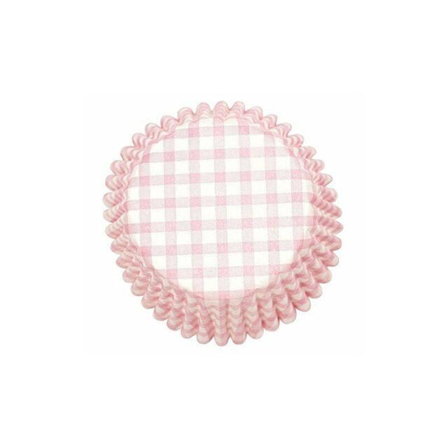 Mini Pink Gingham Baking Cups Qty 50 Mini Pink Baking Cups Mini Muffin Cups Mini Pink Gingham Cupcake Liners Mini Pink Cupcake Liners